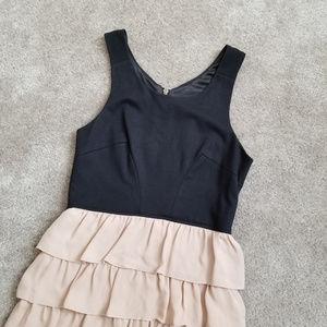 Walter blush silk tiered ruffled sleeveless dress